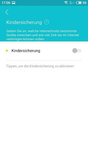 Tether. Kindersicherung