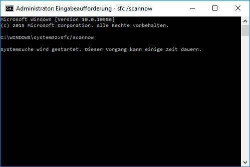 «INVALID_CANCEL_OF_FILE_OPEN» BSoD 0x000000E8: Wiederherstellen von Systemdateien
