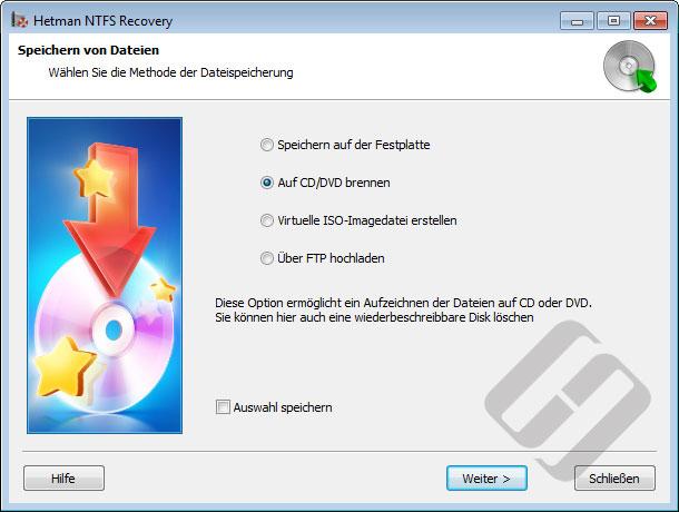 Hetman NTFS Recovery: Dateien speichern
