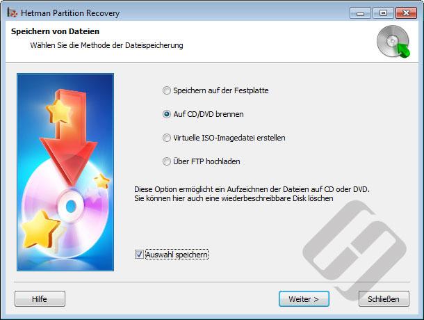 Hetman Partition Recovery: Speichern von Dateien