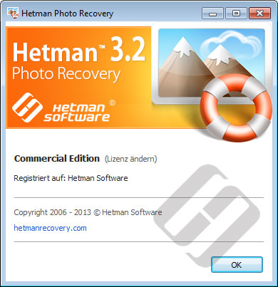 Hetman Photo Recovery: Über Programm