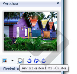 Hetman Uneraser: Button am Anfang der Datei