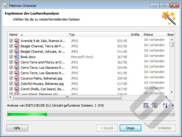 Hetman Uneraser: Recovered Files List