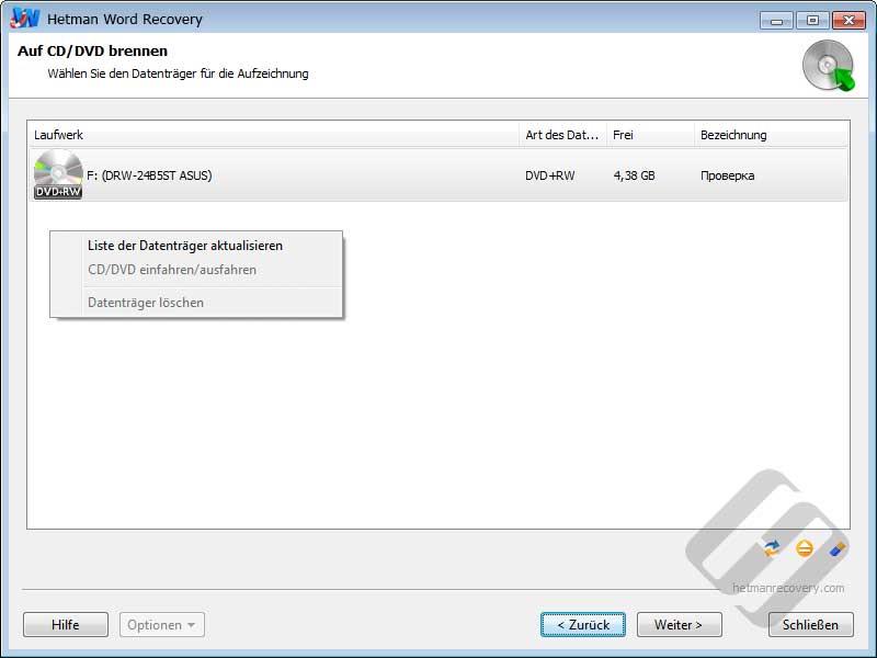 Hetman Word Recovery: Die Wahl CD / DVD-Rom