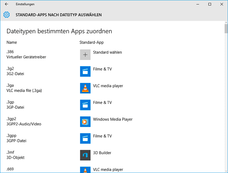 Computeroptionen unter Windows 10