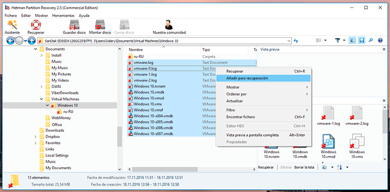 Hetman Partition Recovery. Move all files of such folder to the Recovery list and recover them
