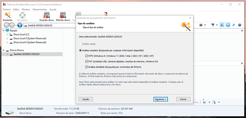 Hetman Partition Recovery. Scan the hard disk where the virtual machine was created