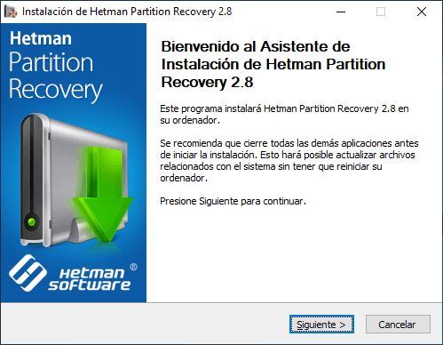 Hetman Partition Recovery. Install