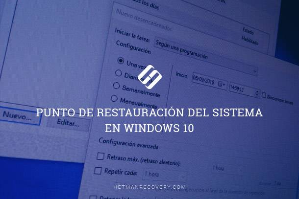 Punto de restauración del sistema en Windows 10