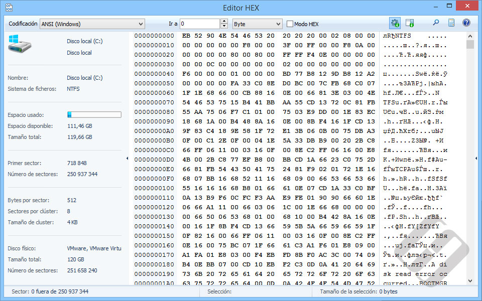 Hetman FAT Recovery: HEX Editor