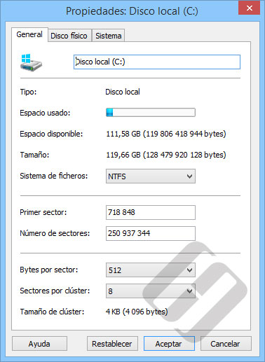 Hetman Office Recovery: Propiedades HDD