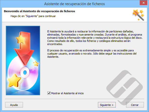 Hetman Partition Recovery: Asistente