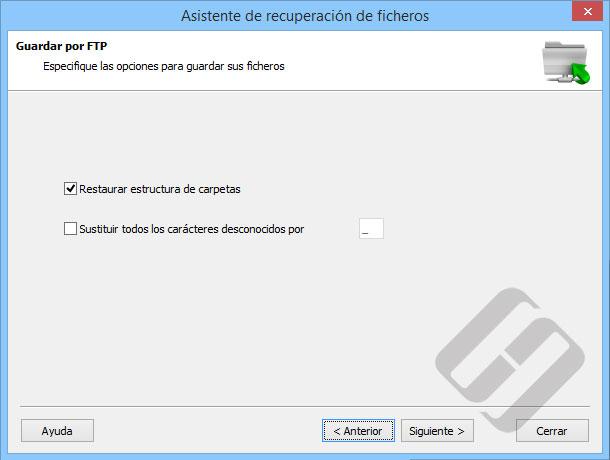 Hetman Partition Recovery: Las opciones para FTP Ahorro