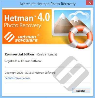 Hetman Photo Recovery: Acerca del programa
