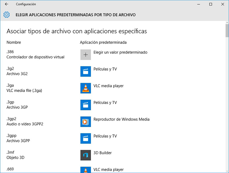 Configuración de PC en Windows 10