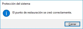 Fijación del sistema de Windows 10