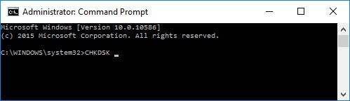 Command Prompt: chkdsk