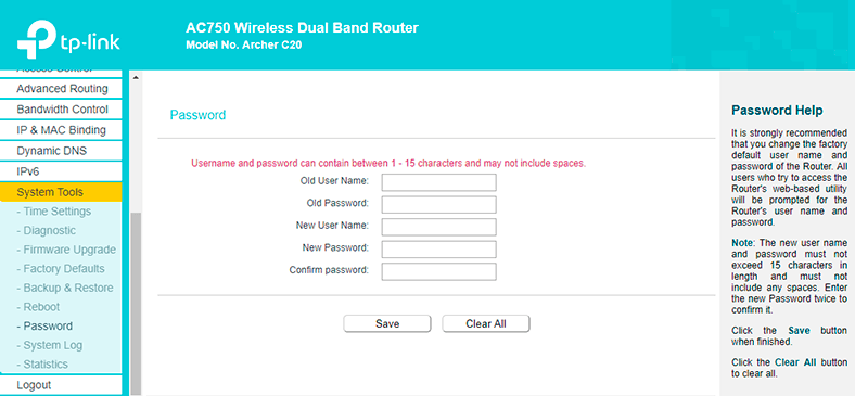 Configuring Wi-Fi Router TP Link AC 750 Archer C20: Internet