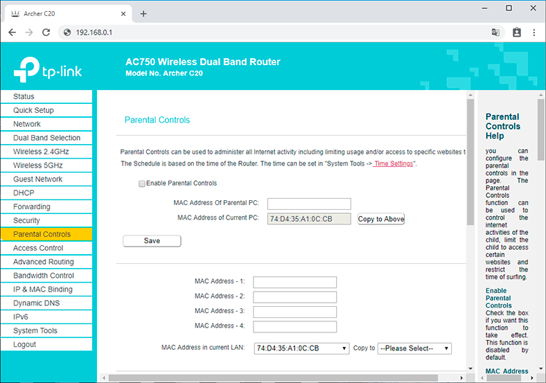 How to Configure Parental Controls for a TP-Link Router from