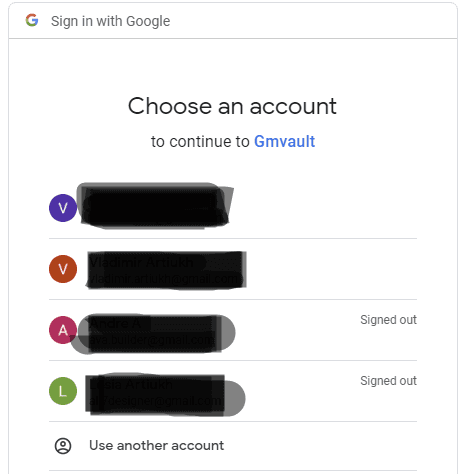 GMvault. Select your Gmail account and sign in