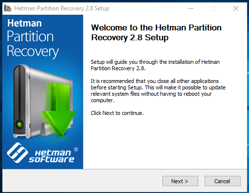 Hetman Partition Recovery. Welcome