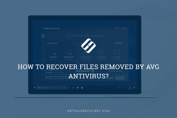 AVG antivirus removed files by mistake - how to recover them?