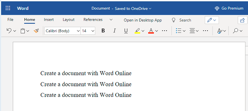 Word Online Edit and View *.docx Files