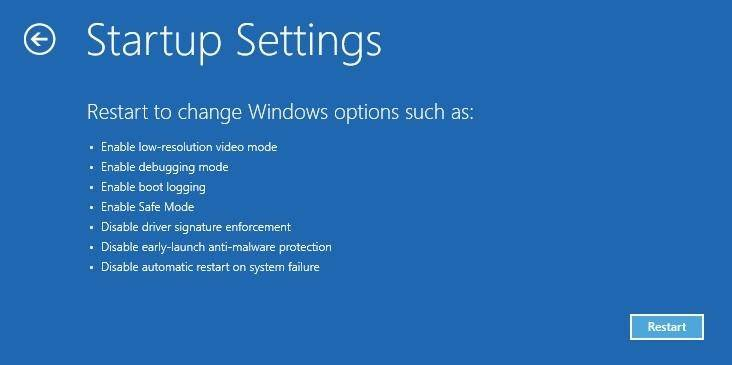 Windows 10 Restore Mode Enable Safe Mode