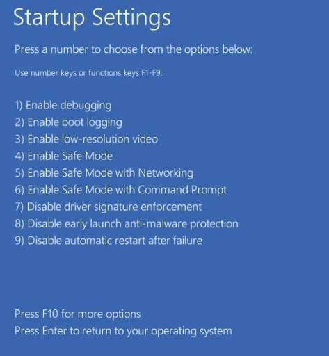 Windows 10 restart Safe Mode