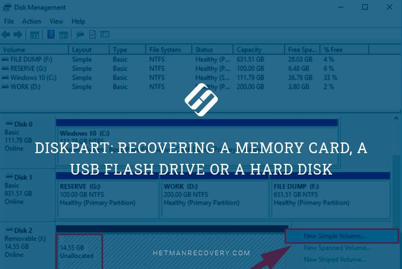 Diskpart: Recovering a Memory Card, a USB Flash Drive or a Hard Disk