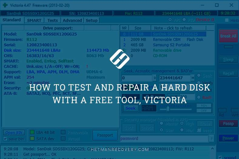 How to Test and Repair a Hard Disk with a Free Tool, Victoria