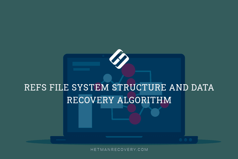 ReFS file system structure and data recovery algorithm