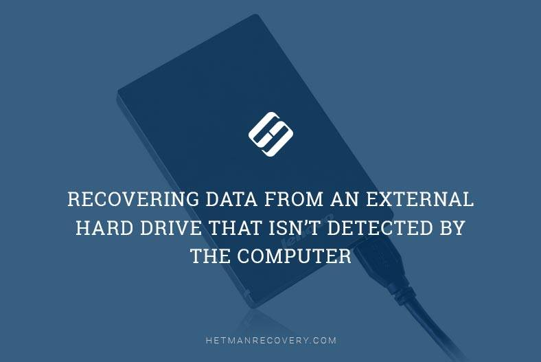 Recovering Data From an External Hard Drive That Isn't Detected By the Computer
