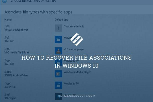 How To Fix Broken File Type Associations in Windows 10