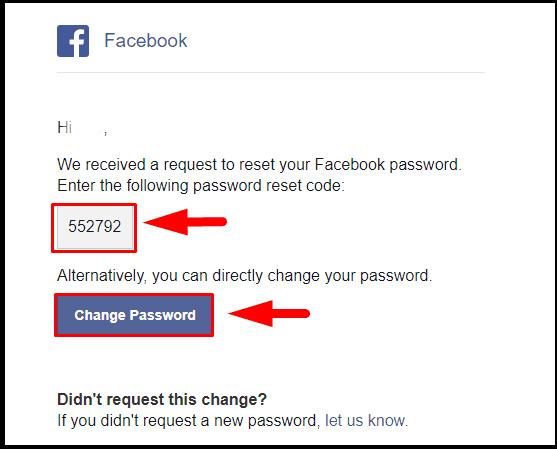 Password facebook need reset to Help Center