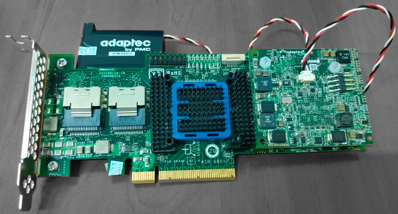 A high-performance hardware controller Adaptec ASR-6805T designed for storage systems.