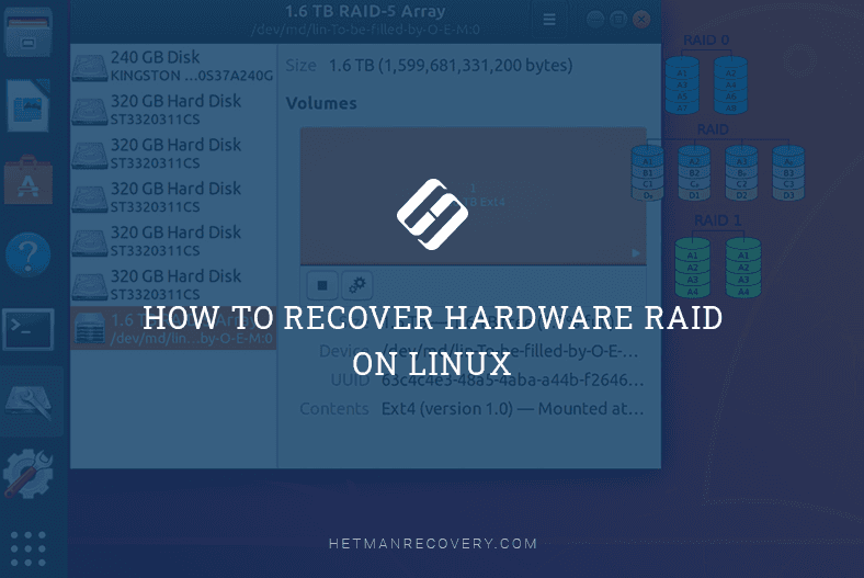 How to Recover Data from RAID 5, 1, 0 on Linux (mdadm)