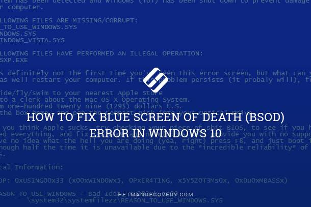 How to Fix Blue Screen of Death (BSOD) Error in Windows 10