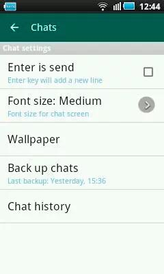 Settings / Chats