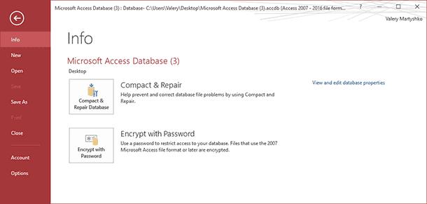 Recovering Microsoft Access Databases (* mdb, * accdb)