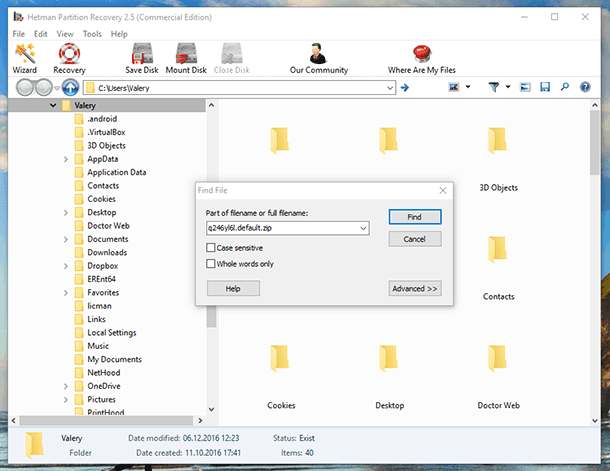 Hetman Partition Recovery. Find file