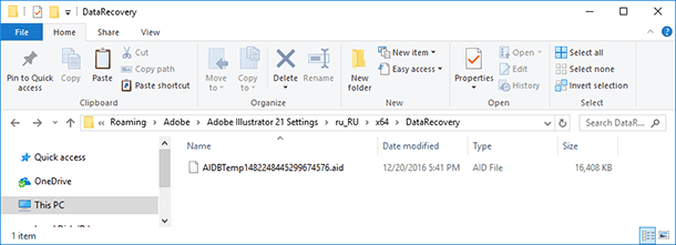Recovering Deleted Adobe Illustrator Files (* ai, * eps
