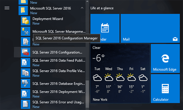Launch SQL Server Configuration Manager.