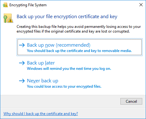 Encrypting file system