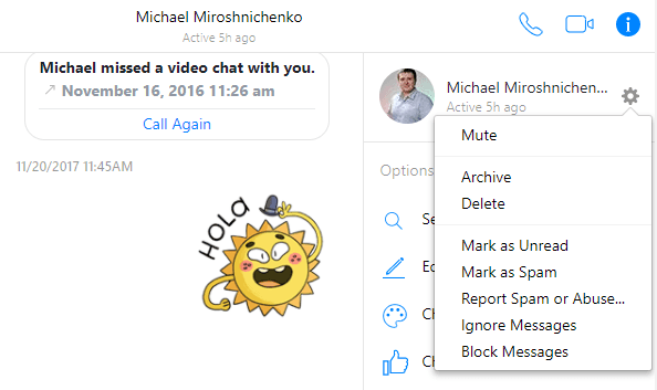 To delete the entire chat, go to the chat menu and select Delete.