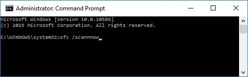 Command Prompt: sfc /scannow