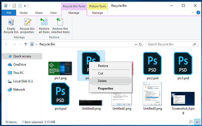Files Sent to The Recycle Bin: How to View, Restore or