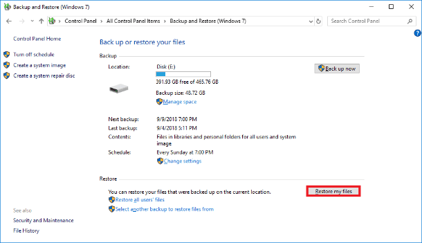 free download recover my files for windows xp