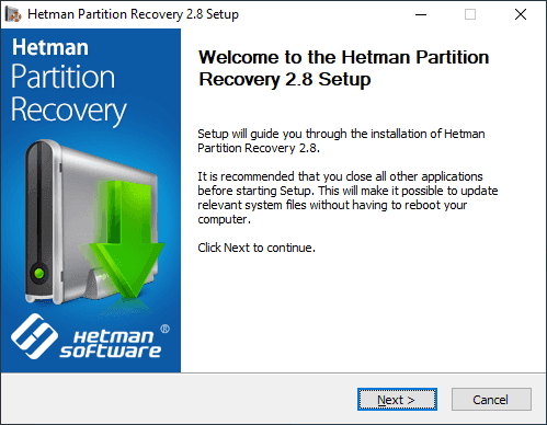 Hetman Partition Recovery Setup