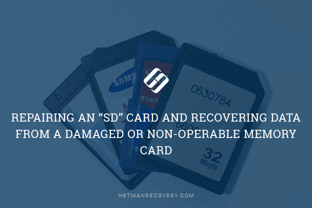 Recovering Data from a Damaged or Non-Operable Memory Card